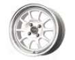 Drag Dr-16 15x7  4x100  40mm White Machined Lip