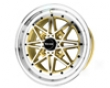 Drag Dr-20 15x7  4x100  10mm Gold Machined Face