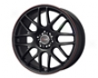 Drag Dr-34 17x7.5  4x100/114  42mm Flat Black Red Lip