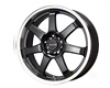 Drag Dr-35 17x7.5  4x100/114  42mm Gloss Blaxk Machined Lip