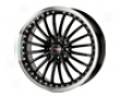 Drag Dr-36 17x7.5  4x100/115  42mm Gloss Black Machined Edge