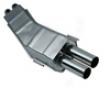 Eisenmann Rear Muffler Prostrate Dual Donation Bmw E32 730-735 86-94