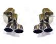 Eisenmann Rear Muffler Exhaust Quad Oval Tip Mercedes Clk 55amg W299 Coupe 5/05+