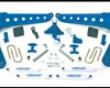 Fabtech 10in Radius Arm System 4.0 Coilover Shock Transmutation Ford F-250 Super Duty 4wd 05-07