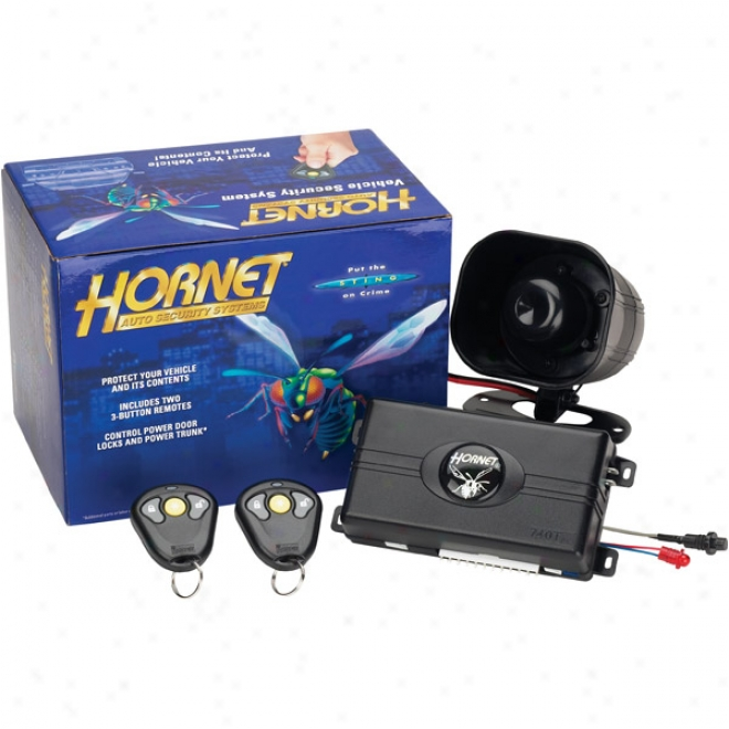 Hornet Security System Witth Keyl3ss Entry - 3-channel