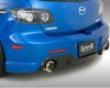 Ings N-spec Rear Bumper Frp Mazda 3 Jdm 10/03-5/06