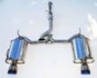 Invidia Q300 Catbaack Exhaust Single Layer Titanium Tips Honda S2000 00+