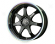 Konig After Burenr 20x10  5x214.3  40mm Black W Prisma Lip