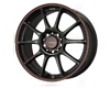 Konig Zero 15x6.5  4x100/114  40mm Black W Red Stripe
