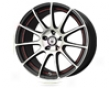 Konig Zero In 18x8  5x114.3  35mm Black W Red Undercoat