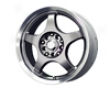 Mb Wheels Five X 14x5.5  4x100/114  35mm Silver Machined