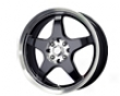 Mb Whheels Five X 17x7  4x100/114  42mm Gloss Black Machined