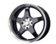Mb Whheels Five X 17x7  4x100/114  42mm Gloss Black Machined