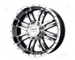 Mb Wheels V-drive 17x8.5  6x139.7hr  18mm Black Machined Face