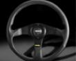 Momo 350mm Tuner Steering Deviate Black W/red Stitching