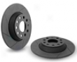 Neuspeed Slotted Rotors - Rear Pair Left-right Volkswagwn Golf 2.0l Tdk Vi 10+