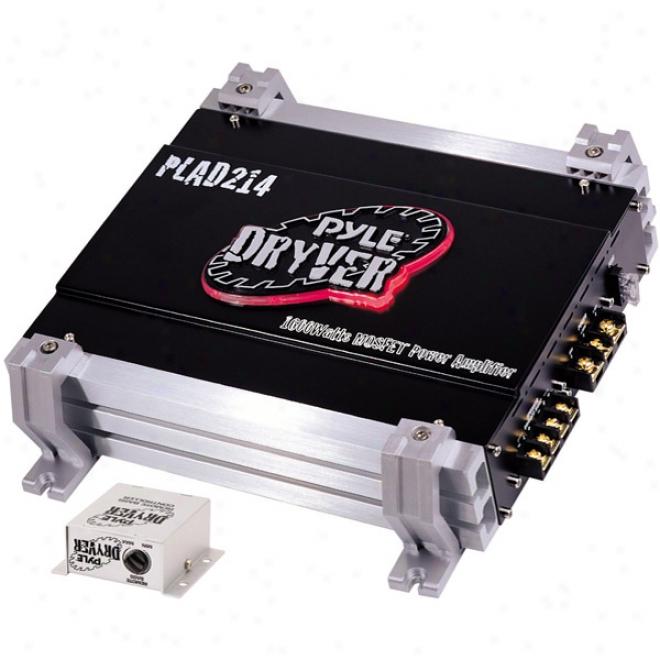 Pyle 1600-watt 2-channel Mosfet Amplifier - 800w X 2 Channels