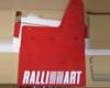 Ralliart Mudflaps Red Mitsubishi Evo Viii 03-05