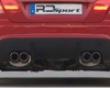 Rd Sport Carbon Fiber Rear Quad Pipes Diffuser Insert Bmw E92 08+