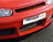 Rieger Carbon Look Dtm Bended Splitter For Rs4 Look Front Bumper Volkswagen Golf Iv 99-05