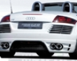 Rieger Carbon Lokk Rear Bumper With Gills Audi Tt 8j 07+