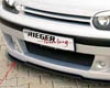 Rieger Dtm Splitter For Cabrio R-rs Frong Spoiler Volkswagen Golf Iv 99-05