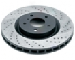 Rotora Rear Left Drilled & Slotted Rotor Audi Tt 3/99-06