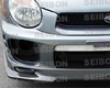 Seibon Front Carbon Fiber Gd-style Lip Spoiler Subaru Wrx 0-03