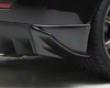 Sequential Japan Black Illysion Rear Bumper Side Fins Mitsubishi Evo X 08+