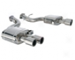 Tubi Style Dual Muffler Exhaust Quad Tip With Valves Ferrari 599 06+
