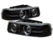 Umnitza Projector Headlights Dual Led Halos Chevy Silverado 99-02