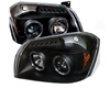 Umnitza Projector Headlights Dual Led Halos Dodge Magnum 05-07