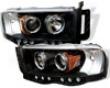 Umnitza Projector Headlights Dual Led Halos Dodge 02-05