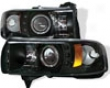 Umnitza Projector Headlights Single Led Halo Dodge Ram 94-01
