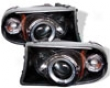 Umnitza Projector Headlights Single Led Halo Dodge Dakota 97-01