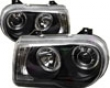 Umnitza Projector Headlights With Led Angel Eyes Chrysler 300c 05-07