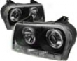 Umnitza Projector Headlights With Led Clear Angel Eyes Chrysler 300c 05-07