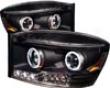 Umnitza Projector Headlights With Led Halos Dodge Ram 06-08