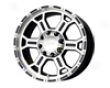 V-tec Raptor 18x9.5  5x139.7  18mm Gloss Black Machined Face
