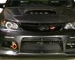 Varis Front Bumper With Carbon Lip Spoiler Subaru Sti Grb 08+