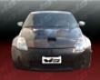 Vis Racing Carbon Fiber Fuzion Hood Nissan 350z 03-06