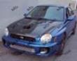 Vis Racing Carbon Fiber Fuzion Hood Subaru Wrx 02-03