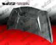 Vis Racing Carbon Fiber Invader 2 Hood Jdm Honda Fit 07-08