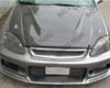 Vis Rscing Carbon Fiber Invader Style Hood Acura Integra 90-93