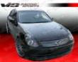Vis Racing Carbon Fiber Oem Hood Infiniti G35 Sedan 03-04