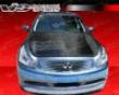 Vis Racing Carbon Fiber Oem Hood Infiniti G37 Sedan 09+