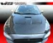 Vis Racing Carbon Fiber Oem Hood Mitsubishi Evo X 08+