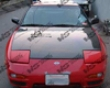 Vis Racing Carbon Fiber Oem Hood Nissan Hb 240sx 89-94