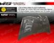 Vis Racing Carbon Fiber Terminator Hood Honda Fit 07-08