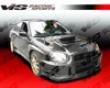 Vis Racing Carbon Fiber V Line Hood Subari Wrx 04-05
